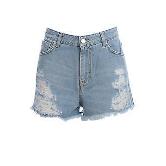 Ermanno Scervino Jc09jns157 Women's Light Blue Cotton Shorts
