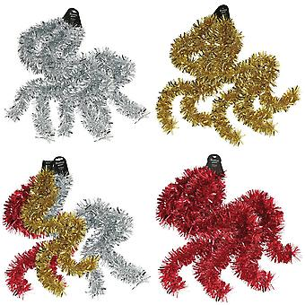 Christmas Shop Shiny Chunky Tinsel (Pack of 3)