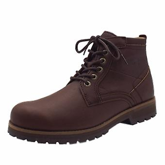 Camel Active Gino Adventure Men's Leather Casual Lace Up Boots In Mocca