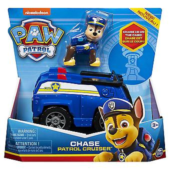 Paw Patrol Basic Vehicle with Pup - Chase Patrol Cruiser Figure Children's Toy