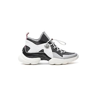 Moncler 205830001am1002 Women's White Leather Sneakers