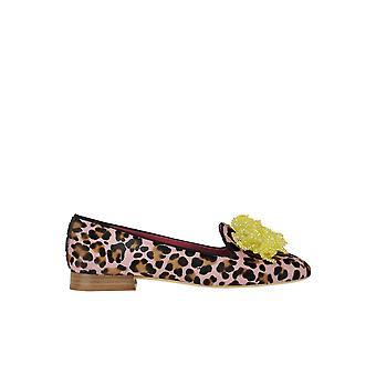 181 Ezgl315011 Women's Leopard Pony Skin Loafers