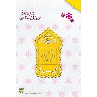 Nellie's Choice Shape Die - Christmas label SD014