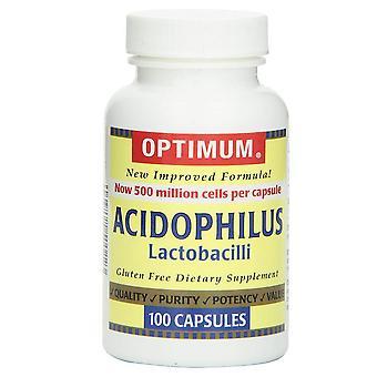 Optimum acidophilus lactobacilli, capsules, 100 ea