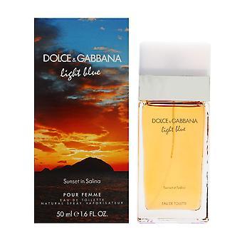 Hellblauer Sonnenuntergang in Salina von dolce & Gabbana für Frauen 1,7 oz Eau de Toilette Spray