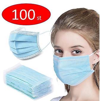 100PCS Einweg Schutzgesicht Anti-Staub-Maske, munskydd