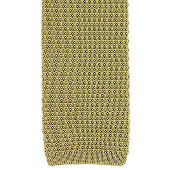 Eingewandt London Seide gestrickte Krawatte - gelb