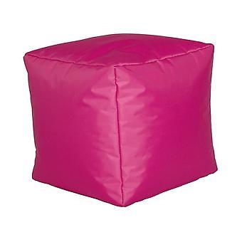 Seat cube nylon Fuchsia size 40 x 40 x 40 with filling