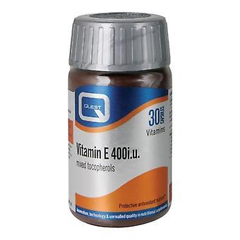 Quest Vitamins Vitamin E 400iu Caps 30 (601329)