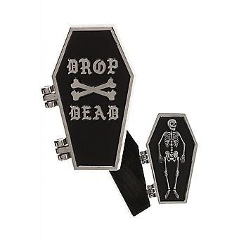 Sourpuss Clothing Drop Dead Coffin Enamel Pin