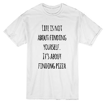 Life Is About Pizza Graphic Men's T-shirt