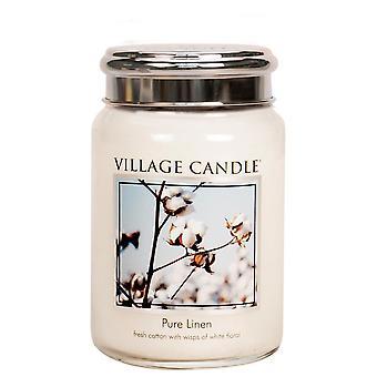 Village Candle Premium 26oz Scented Candle Jar Pure Linen