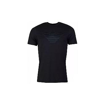 Emporio Armani Viscose Syet Logo Sort T-shirt