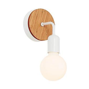 Wandleuchte Valetta White Color, Holz Nussbaum, Metall 13x13x13 cm