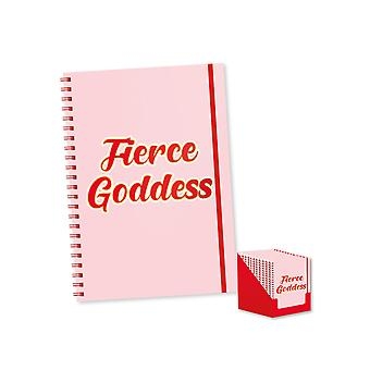 A4 Fierce Goddess Soft Cover Wiro Notebook Lined Ruled 100 Pages