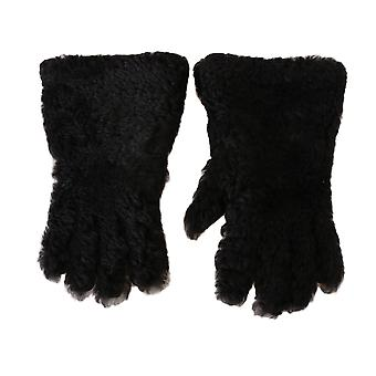 Dolce & Gabbana Black Deerskin Lapin Lamb Fur Warm Gloves