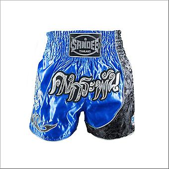 Sandee unbreakable thai shorts - royal blue silver