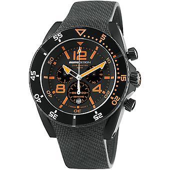 MOMO Design Dive Master Watch MD1281BK-11 - Rubber Gents Quartz Chronograph