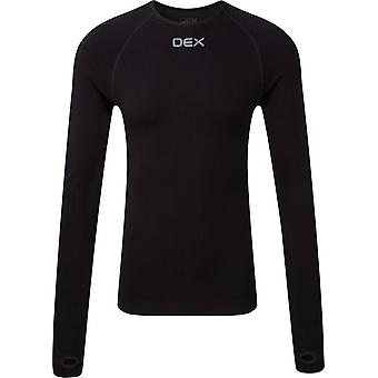 OEX Men's Barneo Long Sleeve Baselayer Top Graphite/Black/Chartrense