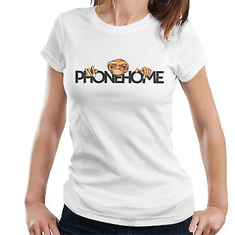 E.T. The Extra-Terrestrial Head Phone Home Women's T-Shirt