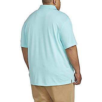 Essentials Mænd & S Big & Tall Quick-Dry Golf Polo Shirt passer af DXL, Aqua ...