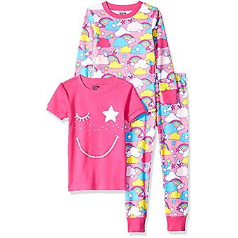 Brand - Spotted Zebra Toddler 3-Piece Snug-Fit Cotton Pajama Set, Pink...