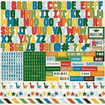Echo Park Dino Freunde 12 x 12 Zoll Alphabet Aufkleber