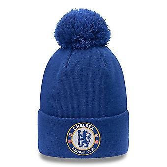 New Era Knitted Beanie With Cuff And Pompom ~ Chelsea FC