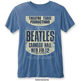 Blue The Beatles Carnegie Hall officiella Tee T-shirt Mens Unisex