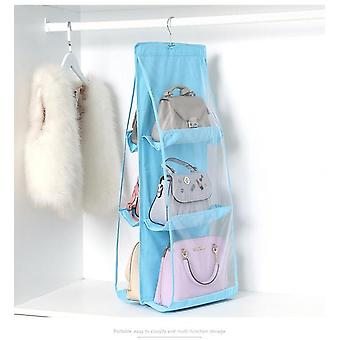 Double Sides Foldable Hanging Storage Bag , Pocket Purse, Wardrobe Organizer