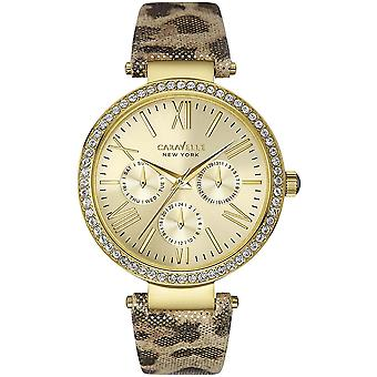 Caravelle Watch 44N103 - Leather Ladies Quartz Multifunction