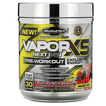 Muscletech, VaporX5, Next Gen, Pre-Workout, Fruit Punch Blast, 9.28 oz (263 g)