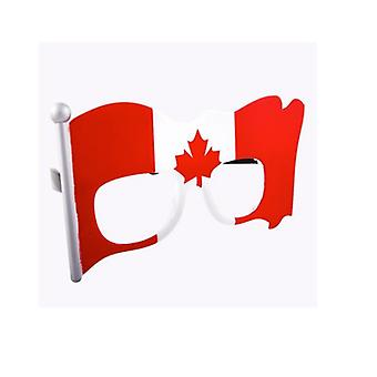 Party Costumes - Sun-Staches - Canadian Canada Flag Clear Lens SG2012