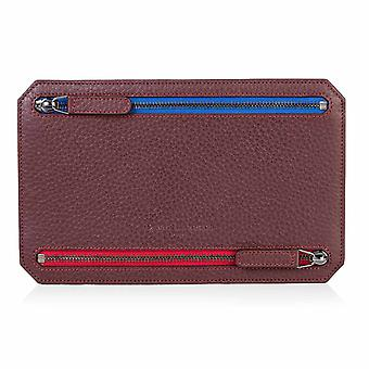 Burgundy Richmond Leather Multi Currency Wallet