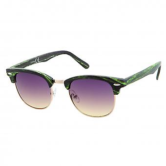 Sonnenbrille Unisex S   Wanderer grün/Holzmuster (20-160A)