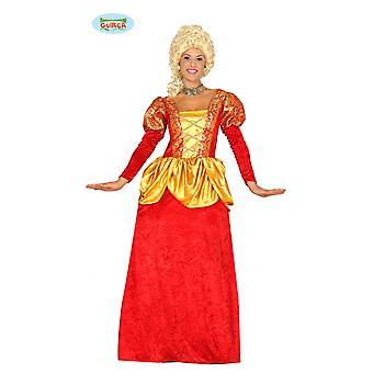 Grevinne kostyme for damer i barokkstil Carnival-Carnival middelalderske adelskvinne