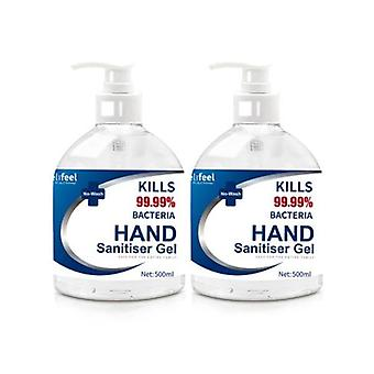Relifeel Hand Sanitiser 2x 500mL 72 Percent Sanitiser Gel