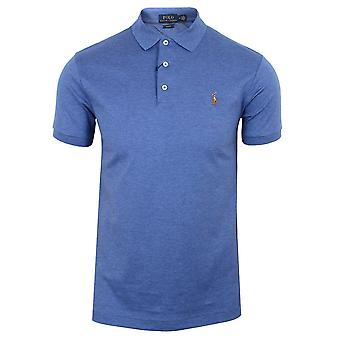 Ralph lauren men's blue pima polo