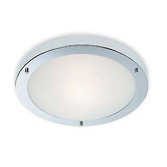 Firstlight Rondo - 1 Lysskylle loft lys Krom, Opal Glas IP54, E27