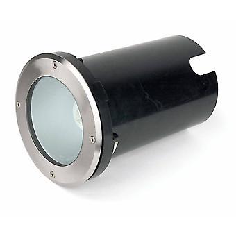1 Light Large Outdoor Recessed Spotlight Matt Nickel IP67, E27
