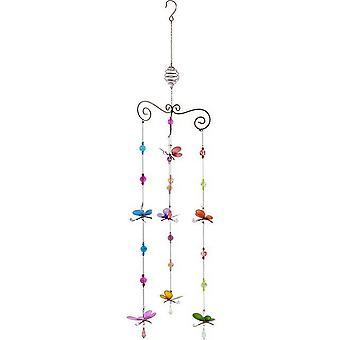 Something Different Triple Butterfly Wind Chime