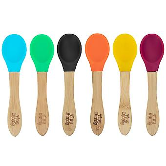 Tiny Dining Children's Bamboo Soft Tip Spoons - Blue - Set of 6