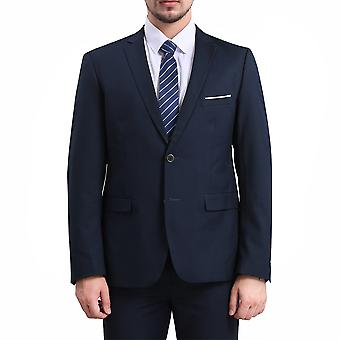 YANGFAN Men's Two Solles Blazer Business Solid Color Suit Takki
