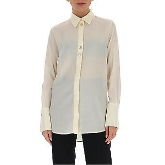 Victoria Beckham 2320wsh001389c Women's White Silk Shirt