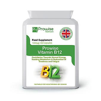 Vitamin B12 Methylcobalamin 1000 mcg 120 capsules | Suitable For Vegetarians & Vegans | Made In UK