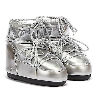 Moon Boot Classic Icon Low Glance Womens Silver Boots