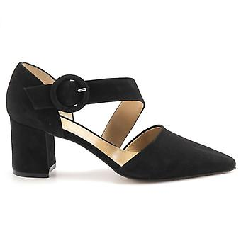 Dècolletè Frenzy Black Suede With Strap