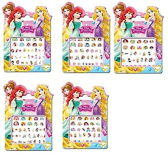 Genuine 5 Pcs Disney Snow White Princess Makeup Toy, Nail Stickers Toy -for