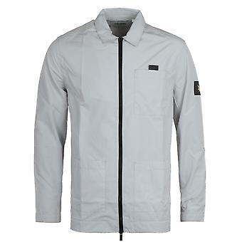 Lyle & Scott Ripstop Nylon Grey Fog Overshirt
