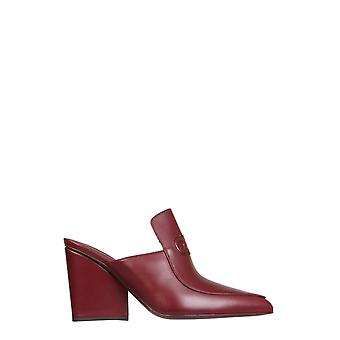 Salvatore Ferragamo 01r431732889 Women's Burgundy Leather Slippers